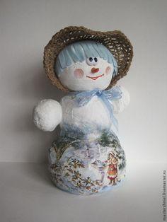 Новый год 2015 ручной работы. Ярмарка Мастеров - ручная работа Снеговушка, снеговик.. Handmade.