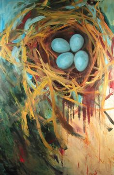 Nest, oil on canvas by Christen Mattix