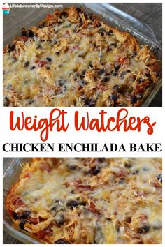 Oct 2019 - Weight Watchers Chicken Enchilada Bake is very easy to make and only 4 Freestyle SmartPoints per serving and the serving is a good size! Great Weight Watchers recipe for dinner. Weight Watcher Desserts, Weight Watchers Snacks, Weight Watcher Dinners, Petit Déjeuner Weight Watcher, Poulet Weight Watchers, Plats Weight Watchers, Weight Watchers Meal Plans, Weight Watchers Breakfast, Weight Watchers Chicken