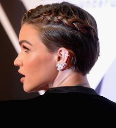 Ruby Rose Showed Us the Perfect Fancy Hairstyle for Short Hair via Brit + Co.