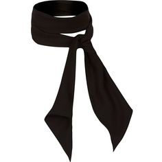 River Island Black neck tie scarf (£8) ❤ liked on Polyvore featuring accessories, scarves and river island