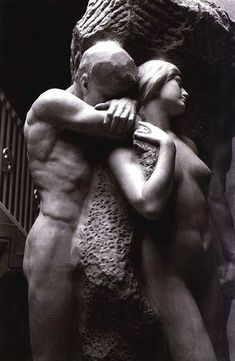 """Solitude of the Soul"" (1901) by American sculptor Lorado Taft (1860-1936)"