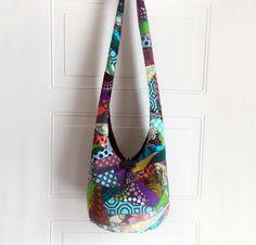 Patchwork Crazy Quilt Hobo Bag Boho Bag Sling Bag by 2LeftHandz, $38.00
