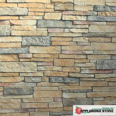 Appleridge Stone - Stone Veneer: The Ledgestone pattern has long, narrow rectangular stones that are laid tight together without a mortar joint. (Shown in Ginger Gold color)