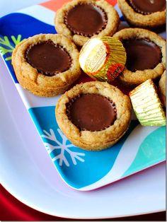 Peanut Butter Cup Cookies   http://iowagirleats.com/2011/12/17/peanut-butter-cup-coookie-butter-cookies/