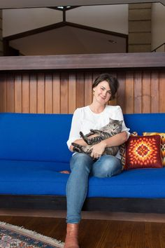 Name: Bobbie Ann Tilkens-Fisher, Owner of At Home Modern, and Matthew Fisher, Owner of Night Kitchen Interactive; Cats: Lucha and Lincoln  Location: Wallingford, Pennsylvania  Size: 2,600 square feet with 600-square-foot annex  Years lived in: 4.5 years; Owned     You can't help but be inspired by Bobbie and Matthew's beautiful home. Each room exudes both style and comfort. The house itself was the stimulus that launched Bobbie's business, At Home Modern, where she sells vintage modern…