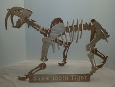 Saber Toothed Tiger Dinosaur 3D Puzzle by WestofKeyWest on Etsy, $19.95