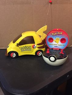 Pokemon Pikachu Radio Control RC Car Vintage 2000 Controlled Car Tiger Working  | eBay #radiocontrol