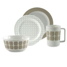 notNeutral® Tess Taupe Dinnerware