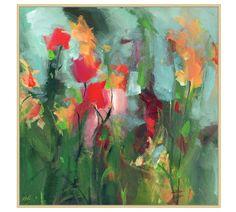 Fields Of Grace Framed Canvas Easy Flower Painting, Simple Oil Painting, Oil Painting Flowers, Flower Art, Frame Wall Decor, Wall Art Decor, Canvas Frame, Canvas Wall Art, Mobile Art