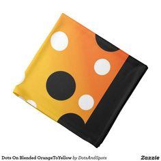 Dots On Blended OrangeToYellow Bandana
