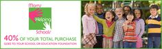 MomsHelpingSchools.com is the coolest place to shop. 40% of all sales go directly to the school of your choice. LOVE it!