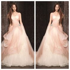 Blush Pink Wedding Gown Vera Wang - Spring 2013 Collection