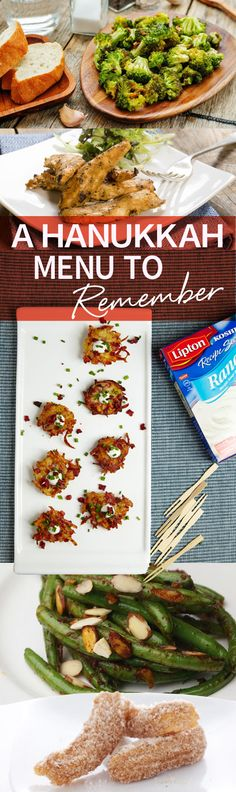 Everyone is planning out their meal-- Hanukkah right around the corner! Use this A Hanukkah Menu To Remember article to plan yours! #liptonkosher http://www.joyofkosher.com/2016/12/hanukkah-party-menu-to-remember/