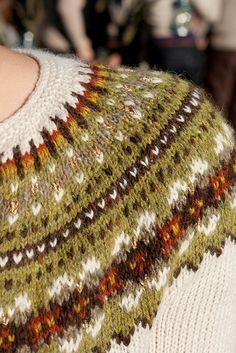 Fairisle of by elm-leaf. Fair Isle Chart, Fair Isle Pattern, Fair Isle Knitting, Knitting Yarn, Knitting Designs, Knitting Projects, Knitting Charts, Knitting Patterns, Nordic Sweater
