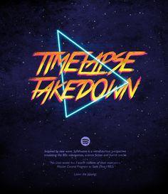 Timelapse Takedown - Spotify on Behance
