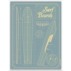 Surfboards Print, 22€, now featured on Fab.