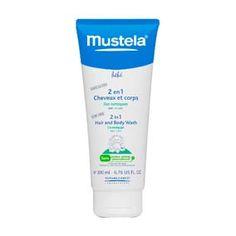 Mustela 2x1 Cuerpo y cabello 200 ml. Dos productos en uno solo. esta fórmula sin jabón limpia en un solo gesto la delicada piel y el fino cabello de bebés y niños.