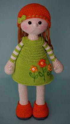 / based on lalylala crochet patterns Crochet Diy, Crochet Amigurumi, Crochet Girls, Crochet Doll Pattern, Amigurumi Patterns, Amigurumi Doll, Crochet Crafts, Doll Patterns, Crochet Projects