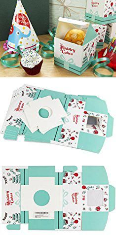 Decorative Bakery Boxes Bulk Cupcake Containerssingle Individual Cupcake Boxes Strong