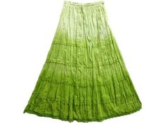 """Gypsy Hippy Skirt Womens Bollywood Fashion Pear Green Long Skirt Gypsy Bohemian Cotton Skirts 38"""" Mogul Interior, http://www.amazon.com/gp/product/B008PO1UJS/ref=cm_sw_r_pi_alp_jhsmqb1R2QNWJ"""