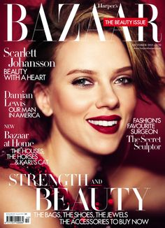 scarlett johansson harpers bazaar october 2013 - Google Search