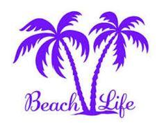 Car Decals, Vinyl Decals, Tree Decals, Cricut Vinyl, Salt Life Decals, Palm Tree Island, Beach Cars, Beach Quotes, Name Tattoos