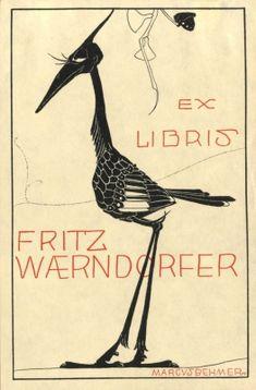 Ex libris by Marcus Behmer (Ger)(1879-1958) for Fritz Waerndorfer, 1907