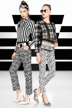 Monochromatic Madness – Classic black and white fashions rule in the latest issue of Vogue Brazil. Tavinho Costa photographs models Giulia Daga and Thais Custodio wearing boldly patterned black and white ensembles against equally dramatic monochromatic backdrops. Raquel Lionel styles the Latin American beauties for the Brazilian glossy's bold fashion feature. / Grooming by Fabio …