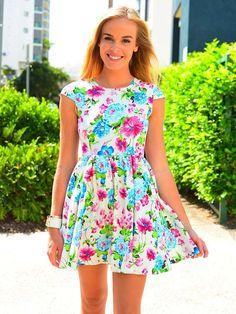 Bright birthday party dress