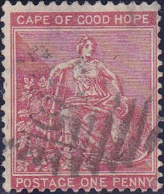 Stamp: Allegory of hope (South Africa - States and Colonies) (Cape of Good Hope) Mi:ZA-CA 27 Colonial, Cape Colony, Union Of South Africa, Empire, Handmade Books, African History, Hoop, Stamps, British