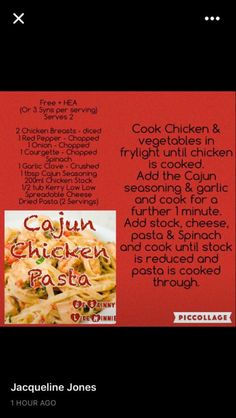 Sw Cajun pasta