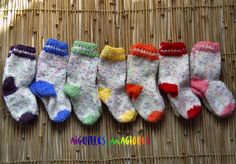 Socks for six months old baby - Knitting For Kids, Knitting Socks, Baby Knitting, Knitted Hats, Brei Baby, Six Month Old Baby, Baby Hats, Mittens, Knit Crochet