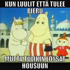 Aiheeseen liittyvä kuva Funny Relatable Memes, Funny Quotes, Humour Quotes, Cool Pictures, Funny Pictures, Moomin, Finland, Family Guy, Lol