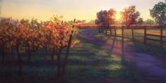 """Last Light"" Pastel on Paper 12 x 24"