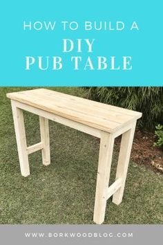 Reclaimed Wood bar table with hairpin legs Custom. Wooden table, live edge DIY pub table A step-by-step guideDIY pub table tutorial. diytable decordiy diyprojects diyideas diyinspiration How to build a Bar Table Diy, Outdoor Bar Table, Patio Bar Set, Diy Bar, Bar Tables, Diy Wood Table, 2x4 Table, Diy Entryway Table, Outdoor Console Table