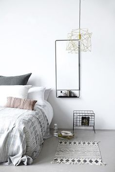 Minimalistic grey bedroom || @pattonmelo