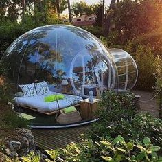 The Bubble Tent is the ultimate outdoor abode. Only our bubble tents are made with thick, high quality TPU/PVC and feature exterior D-Ring tie-downs with ground stakes. Inflatable Bubble Tent F or O utdoor U se I n F estivals S targazing A nd C amping. Backyard Greenhouse, Small Greenhouse, Greenhouse Ideas, Homemade Greenhouse, Portable Greenhouse, Luxury Homes Interior, Luxury Home Decor, Room Interior, Modern Interior