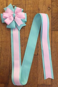 Hair Bow Holder, Ready to Ship, Hair Clip Holder, Hair Bows Holder, Ribbon, Barrette Holder, Hair Bows organizer, aqua and pink by BBgiftsandmore on Etsy