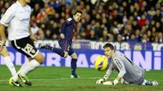 David Villa, FC Barcelona,   Valencia 1-1 FC Barcelona. 2013-02-03.