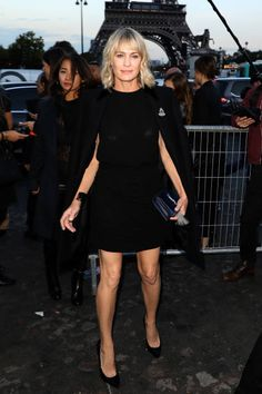 3922bca6f5c5a Robin Wright arrives at the Saint Laurent show as part of the Paris Fashion  Week Womenswear
