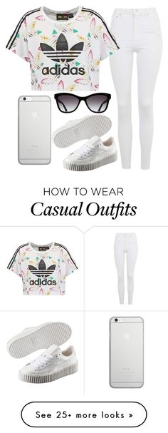 """Casual"" by mareehamasood246 on Polyvore featuring Topshop, adidas Originals, Puma, Native Union and Chanel"