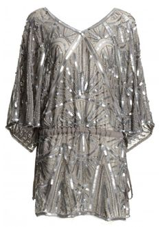 AFTER SIX OK RED CARPET SEQUIN TUNIC DRESS (**in silver ...
