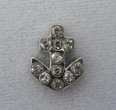 Silver ANCHOR with Crystals Floating Charm LoveByLucy http://www.amazon.com/dp/B00H9ZIMYU/ref=cm_sw_r_pi_dp_X4Ivub0XVSKCB