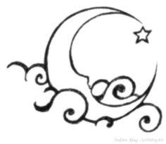 Tattoo Moon Clouds Stars 45 Ideas For 2020 Cresent Moon Drawing, Cresent Moon Tattoo, Star Tattoos, Body Art Tattoos, Moon Star Tattoo, Trendy Tattoos, Cool Tattoos, Tatoos, Tattoo Mond