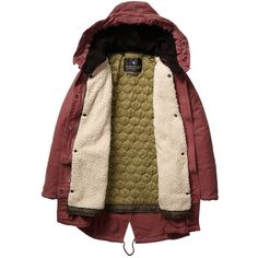 Scotch & Soda Iconic Peached Cotton Parka (11.355 RUB) ❤ liked on Polyvore featuring outerwear, coats, jackets, coats & jackets, desert rose, brown parka, long brown coat, long parka coat, brown coat and lined parka