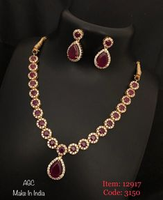 Temple jewellery available at AnkhJewels for booking msg on Ruby Necklace Designs, Bracelet Designs, Ruby Jewelry, Gold Jewelry, Gold Necklace, Jewellery Earrings, Bridal Necklace, Diamond Jewellery, Simple Necklace