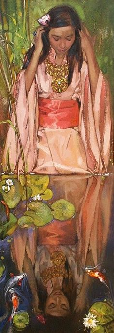 """Reflection"" Nurlan Kilibaev - Kazakh (qazaq) painter"