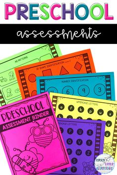 Everything you need for assessment time! Put together your pre-k assessment binder with these pages, and record your students' skills and knowledge in the provided portfolio/assessment pages. Perfect for preschool or pre-k teachers. Preschool Director, Preschool Lessons, Preschool Math, Kindergarten Activities, Preschool Assessment Forms, Letter Assessment, Pre-k Resources, Teacher Resources, Reading Resources