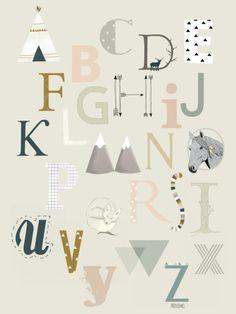 Poster Alfabet A3 - Minimel
